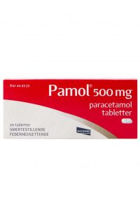 Pamol 500 mg, 20 tabletter