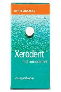 Xerodent Sugetablett, 28 mg/0,25 mg fluor, 90 sugetabletter