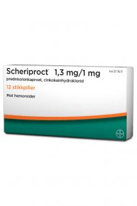 Scheriproct 1,3 mg/1 mg