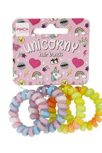 Pinch! Unicorny Hair Bands, 4 stk.