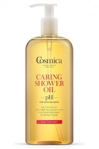 Cosmica Caring Shower Oil med parfyme
